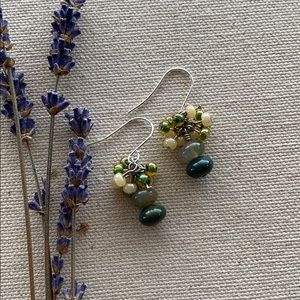 Bead and Stone Earrings